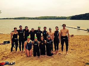 Team open water swim